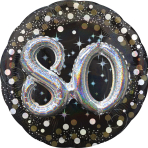 Gold Sparkling Celebration 80th Birthday Multi Balloons P75 - 5 PC