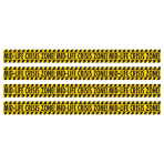 Mid Life Crisis Zone Caution Tape Rolls 17.7m x 7.6cm - 12 PC