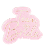 Team Bride Iron-On Patches - 6 PKG/6