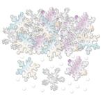 Iridescent Snowflake Embossed Confetti Mix 14g - 12 PC
