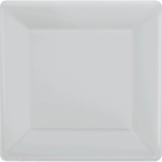 Silver Square Paper Plates 25cm - 6 PKG/20