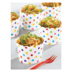 Rainbow Buffet Mini Scalloped Cups - 9 PKG/36