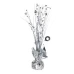 Silver Spray Centrepiece Balloon Weights 30cm/150g - 6 PC