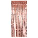 Metallic Rose Gold Door Curtains 91cm x 2.43m - 6 PC