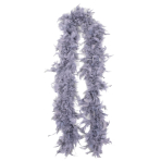 Silver Deluxe Feather Boas - 6 PC