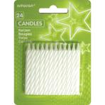 White Stripe Candles - 12 PKG/24