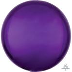 """Purple Orbz Unpackaged Foil Balloons 15""""/38cm w x 16""""/40cm h G20 - 3 PC"""