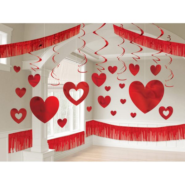 Valentine S Day Foil Giant Room Decorations Kits 3 Pc Amscan International