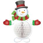 Snowman Honeycomb Glitter Decorations 48cm h - 12 PC