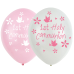 "Communion Church Pink Latex Balloons 11""/27.5cm - 6 PKG/6"