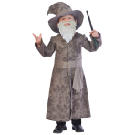 Wise Wizard Costume - Age 7-8 Years - 1 PC