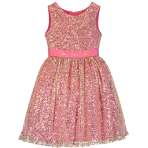Aurora Sleeping Beauty Pink & Gold Sequin Dress - Age 7-8 Years - 1 PC