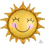 """Sunshine Sun SuperShape XL Foil Balloons 29""""/74cm w x 28""""/71cm h P35 - 5 PC"""