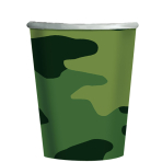 Camouflage Paper Cups 266ml - 12 PKG/8