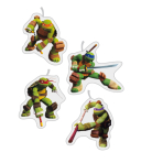 Teenage Mutant Ninja Turtles Mini Figurene Candles - 5 PKG/4