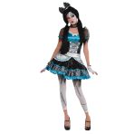 Shattered Doll Costume - Age 12-14 Years - 1 PC
