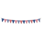4th July Fabric Pennant Banner 3.65m - 3 PKG