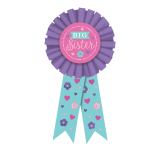 Big Sister Pink Award Ribbons - 6 PC