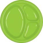 Kiwi Green Plastic Divider Plates 26cm - 10 PKG/20