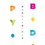 Bright Birthday Balloon Fun Strings 1.82m - 6 PC