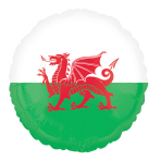 "Wales Foil Balloon   - 18""/45cm - 5 PC"
