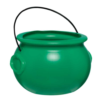 St. Patrick's Day Plastic Green Pot of Gold - 12 PC