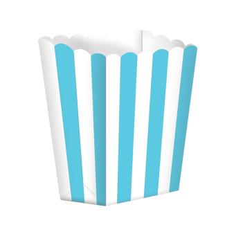 Caribbean Blue Candy Buffet Popcorn Treat Boxes - 24 PKG/5