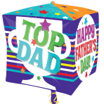 "Father's Day Cubez Foil Balloons 15""/38cm G20 - 5 PC"