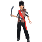 Children Ahoy Captain Pirate Costume - Age 4-6 Years - 1 PC