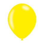 "Metallic Yellow Latex Balloons 11""/27.5cm - 10PKG/10"