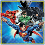 Justice League Luncheon Napkins 22cm - 6 PKG/8