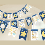 Twinkle Little Star Pennant Banners 4.57m - 12 PC