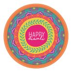 Diwali Paper Plates 18cm - 12 PKG/8