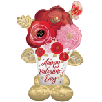 """Painted Flowers Airloonz Satin Luxe Foil Balloons 39""""/99cm x 53""""/134cm h  P70 - 3 PC"""