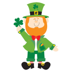 St. Patrick's Leprechaun Jointed Cut-outs 89cm - 6 PC