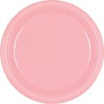 Baby Pink Plastic Plates 17.7cm - 10 PKG/20
