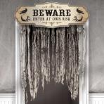 Boneyard Gauze Door Curtains 1.4m x 99cm - 6 PKG