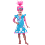 Trolls Girls Poppy Costume - Age 7-8 Years - 1 PC