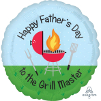 Happy Father's Day Grill Master Standard HX Foil Balloons S40 - 5 PC