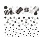 Black Sequin Foil & Paper Confetti 34g - 12 PC