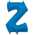 """Letter Z Blue Minishape Foil Balloons 16""""/40cm A04 - 5 PC"""