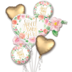 Floral Baby Satin Foil Balloon Bouquets P75 - 3 PC