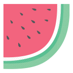 Just Chillin' Watermelon Die-cut Luncheon Napkins 33cm - 12 PKG/16