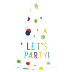 Confetti Birthday Party Hats - 5 PKG/8