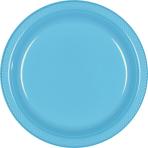 Caribbean Blue Plastic Plates 22.8cm    - 10 PKG/20