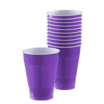 New Purple Plastic Cups 473ml - 20 PKG/50