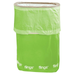 Kiwi Green Fling Bins - 5 PKG