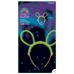 Fancy Glow Mouse Ear Tiaras - 6 PC