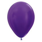 "Metallic Solid Violet 551 Latex Balloons 12""/30cm - 25 PC"