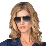 Mirrored Aviator Sunglasses - 1 PC